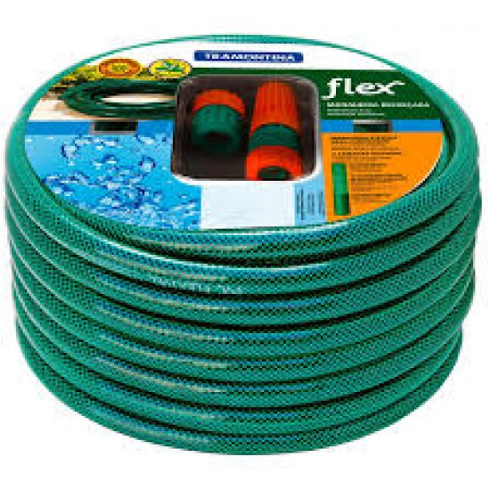 """TRAMONTINA 1/2"""" 15M HOSE PIPE GREEN WITH FREE CONNECTORS"""