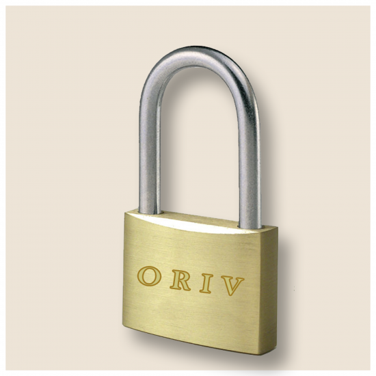 ORIV 586L BRASS PADLOCK 60MM(LONG SHACKLE)