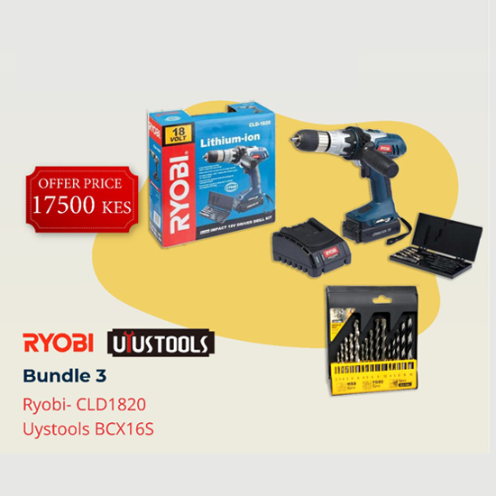 RYOBI-Bundle 3(Power Tools)-BRYUY-3 - Bosch | Karcher | Hardware Tools in Nairobi  | Pet Foods in Nairobi | Garden Tools in Nairobi | DIY Tools in Nairobi Kenya | Power Tools in Nairobi | Mombasa | Kenya
