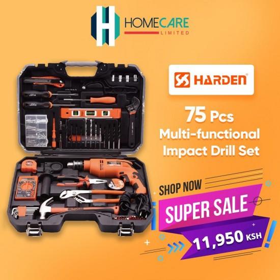 Harden 75pcs Multi-Functional Impact Drill Set