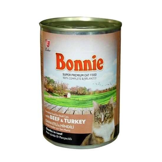 BONNIE-BONNIE CANNED CAT FOOD WITH BEEF/TURKEY - CHUNKS IN LOAF PATE - 400 Gr(Cat Food)-8698995013550 - Bosch | Karcher | Hardware Tools in Nairobi  | Pet Foods in Nairobi | Garden Tools in Nairobi | DIY Tools in Nairobi Kenya | Power Tools in Nairobi | M