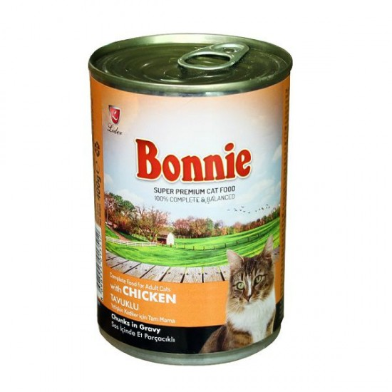 BONNIE-BONNIE CANNED CAT FOOD WITH CHICKEN - CHUNKS IN GRAVY - 400 Gr(Cat Food)-8698995013512 - Bosch | Karcher | Hardware Tools in Nairobi  | Pet Foods in Nairobi | Garden Tools in Nairobi | DIY Tools in Nairobi Kenya | Power Tools in Nairobi | Mombasa |