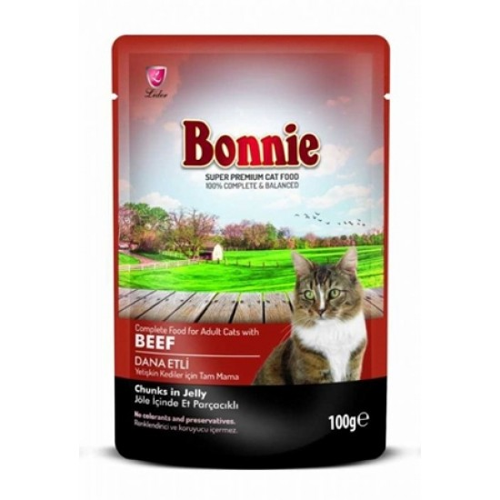 BONNIE-BONNIE POUCH FOR CAT WITH BEEF CHUNKS IN JELLY - 100 Gr(Cat Food)-8698995007023 - Bosch | Karcher | Hardware Tools in Nairobi  | Pet Foods in Nairobi | Garden Tools in Nairobi | DIY Tools in Nairobi Kenya | Power Tools in Nairobi | Mombasa | Kenya